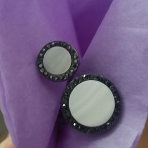 Cute adjustable mother of pearl bling ring